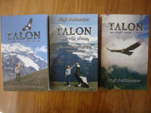 My first 3 novels in the Talon series